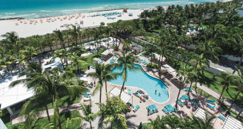 schönste Orte der Welt Riu Plaza Miami Beach Pool mit Meerblick und Strand