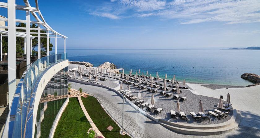 Schönste Ort der Welt Kempinski Hotel Adriatic Istria in Kroatien Strand