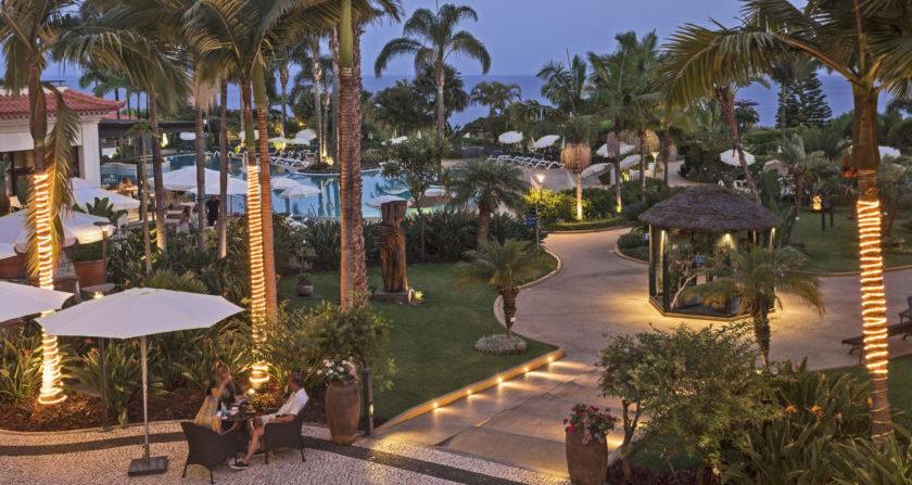 Schönste Orte der Welt Hotel The Residence Porto Bay Portugal auf Madeira Gartenanlage und Pool